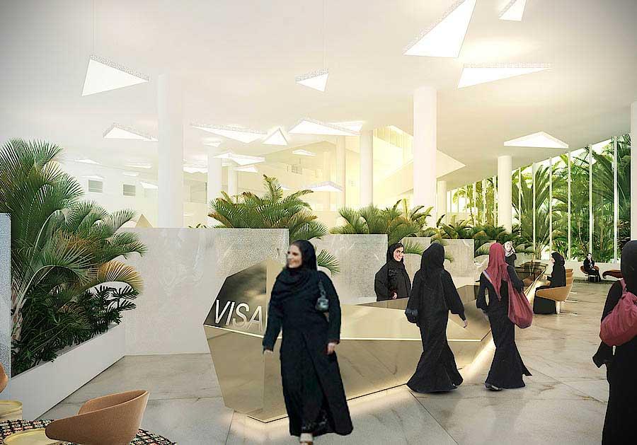 Interior design f r das new mofa building landau for Indoor das design