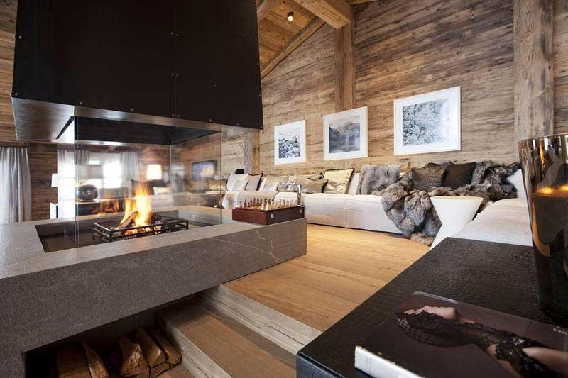 Sechs sterne chalet n landau kindelbacher for Interior design osterreich