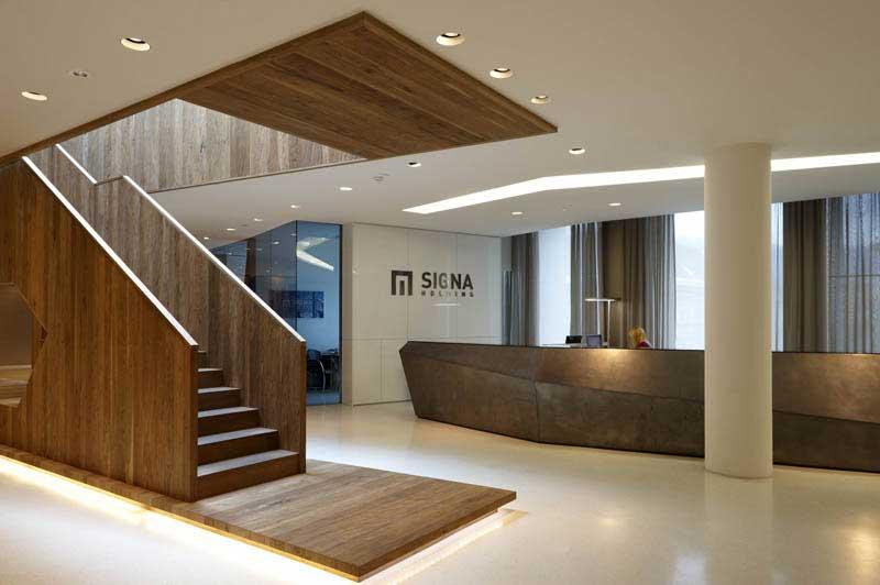 Signa holding headquarters innsbruck landau kindelbacher for Interior design innsbruck