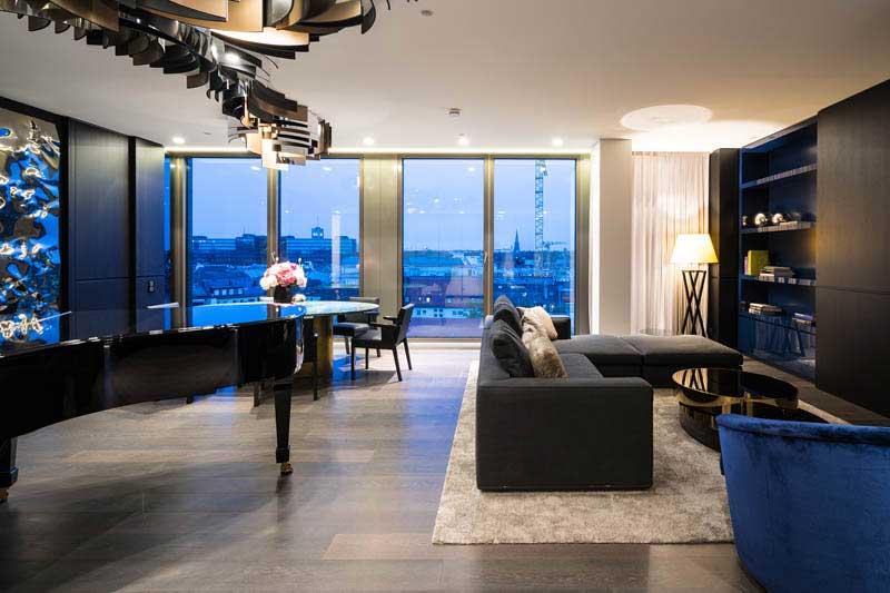 penthouse in m nchen 4 landau kindelbacher. Black Bedroom Furniture Sets. Home Design Ideas